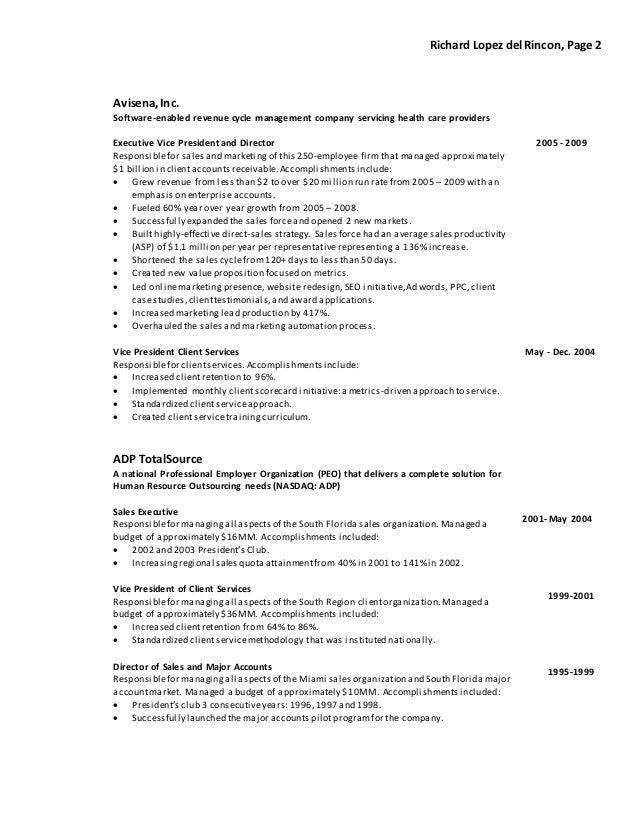 enterprise software sales resume enterprise sales
