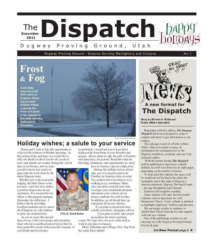 Dugway Dispatch - December 2011 Edition