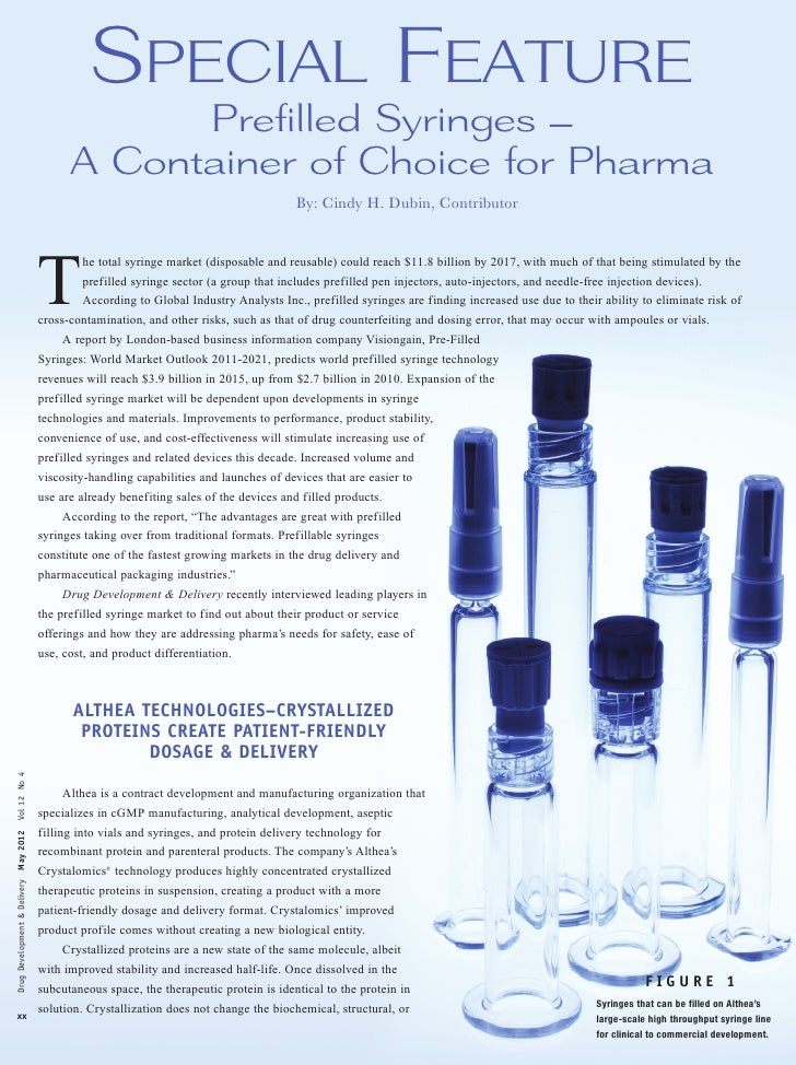 Prefilled Syringes - A Container of Choice for Pharma