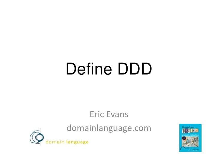 DDD eXchange