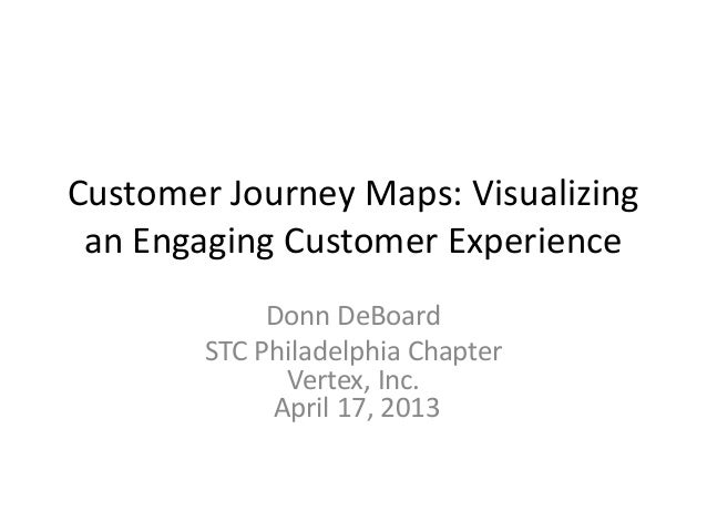 DDeBoard Customer Journey Maps: Visualizing an engaging customer experience STC Philadelphia Metro Chapter April 2013