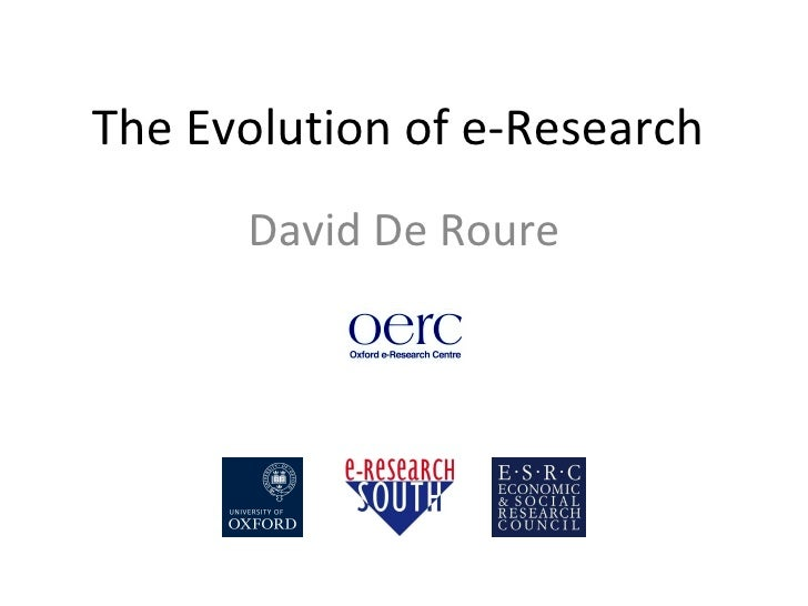 Evolution of e-Research