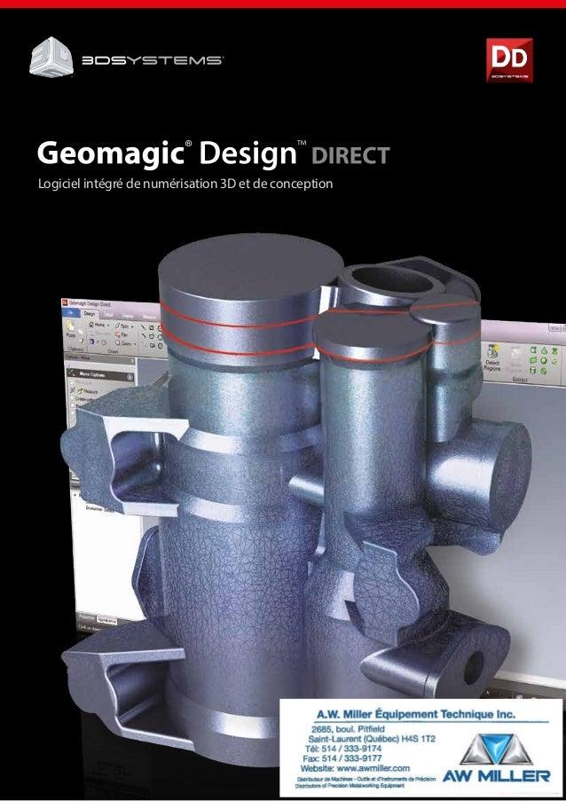 Logiciel intégré de numérisation 3D et de conception