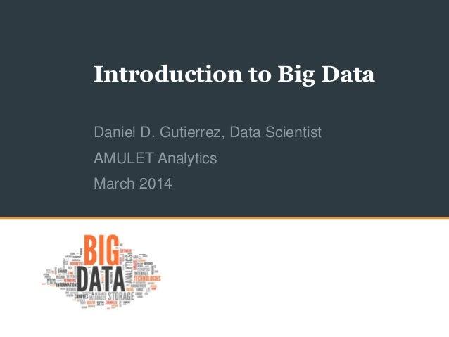 Introduction to Big Data for LABDUG