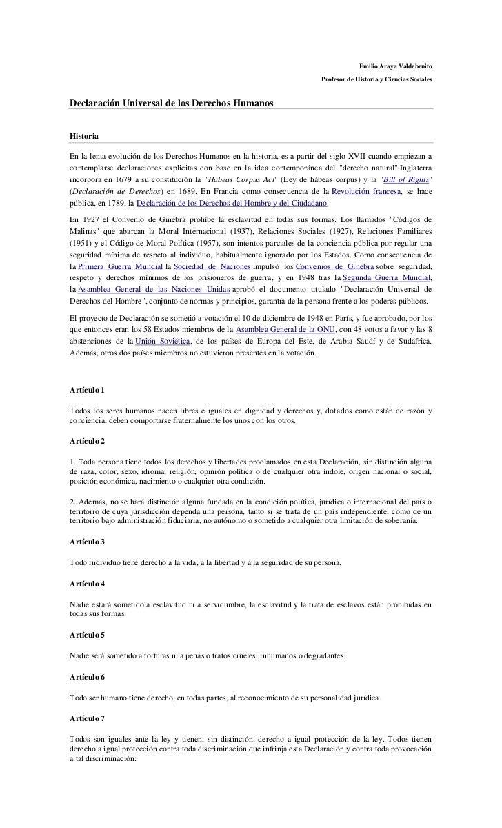 Emilio Araya Valdebenito                                                                              Profesor de Historia...