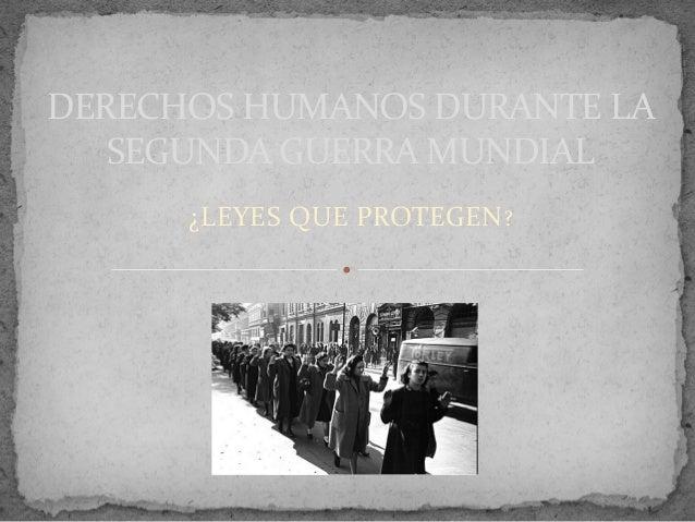 Derechos humanos en la guerra