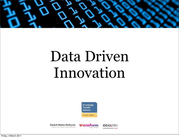 Data Driven Innovation