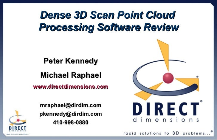 DDI Dense Point Cloud Processing Presentation Oct 2009