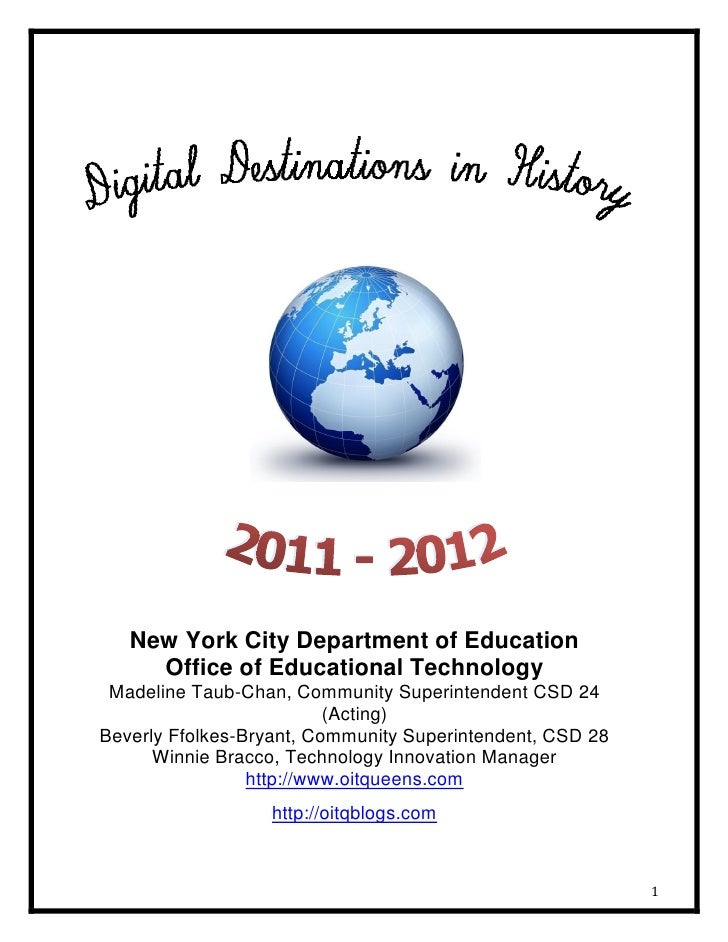 New York City Department of Education     Office of Educational Technology Madeline Taub-Chan, Community Superintendent CS...