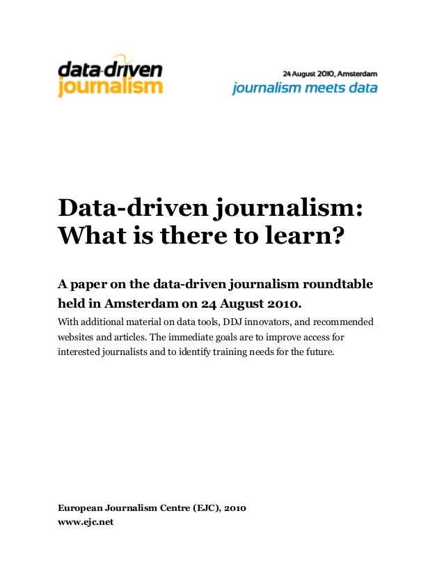 Data-driven journalism: What is there to learn? (Documentation from Amsterdam #ddj conference), 2010