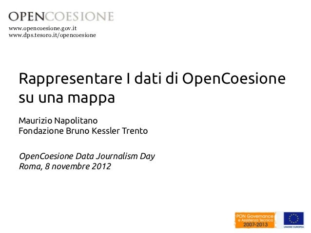 Data Journalism con QGIS e OpenCoesione