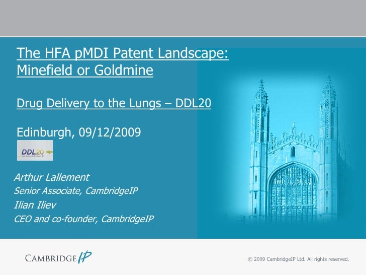 The HFA pMDI Patent Landscape: Minefield or Goldmine