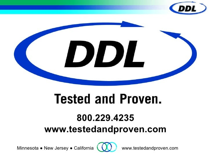 DDL Inc.- Medical Device Package, Product and Material Testing