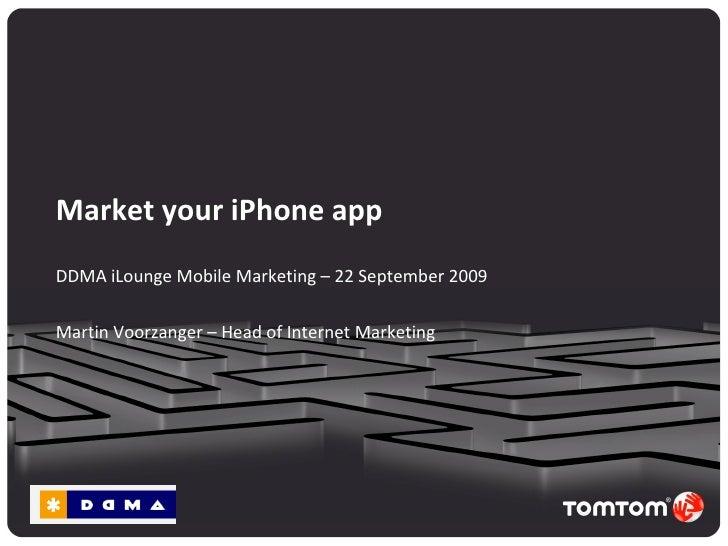DDMA iLounge - Market your iPhone App