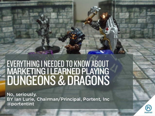 MARKETINGILEARNEDPLAYING DUNGEONS&DRAGONS No, seriously. BY Ian Lurie, Chairman/Principal, Portent, Inc @portentint EVERYT...