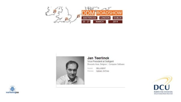Bridging the gap between Relationship marketing & Digital performance marketing Jan Teerlinck VP Product marketing Welcome