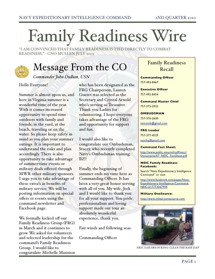 June 2010 Family Readiness Wire Newsletter