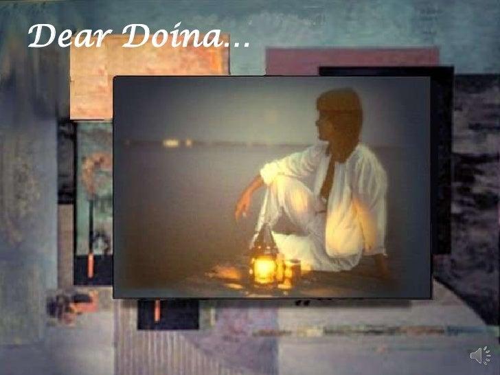Dear Doina…<br />