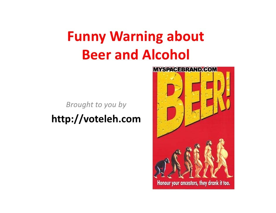 Funny Warning Signs about Beer and Alcohol