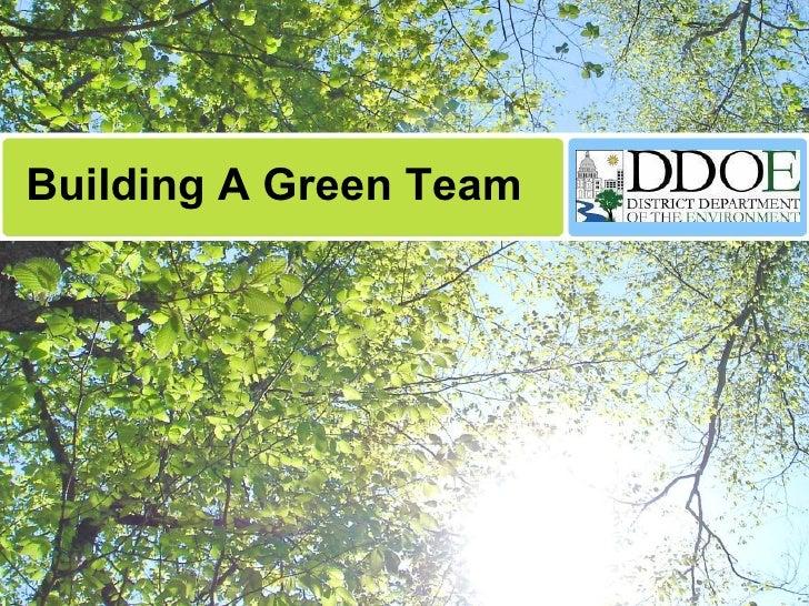 DDOE Building Your Green Team