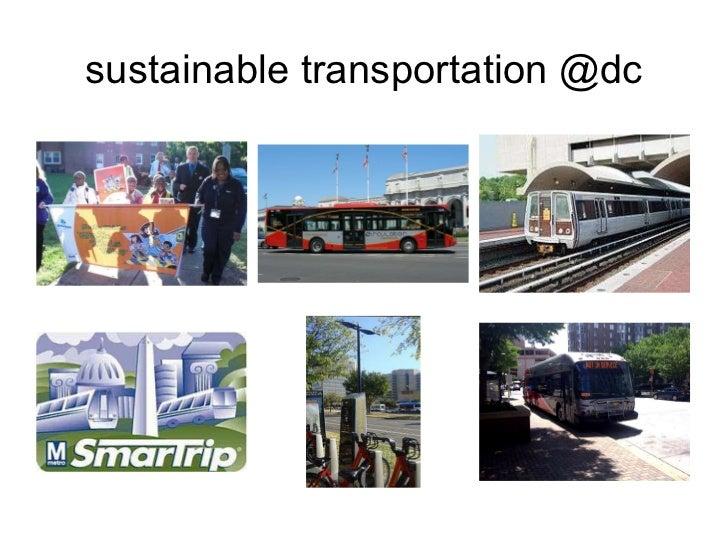 sustainable transportation @dc