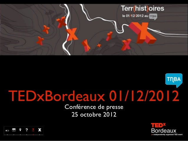 Dossier de Presse TEDxBordeaux octobre 2012