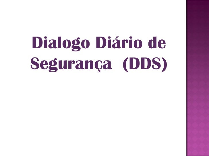 Dialogo Diário deSegurança (DDS)
