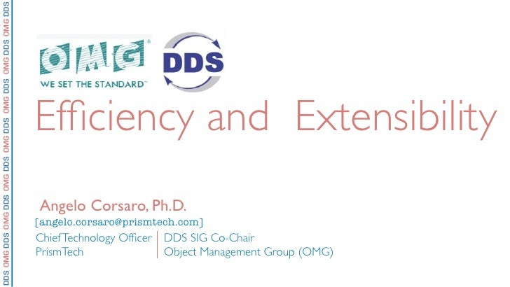 DDS Efficiency and Extensibility