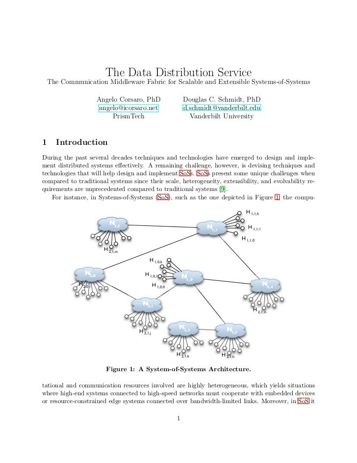 The Data Distribution Service: The Communication  Middleware Fabric for Scalable and Extensible Systems-of-Systems