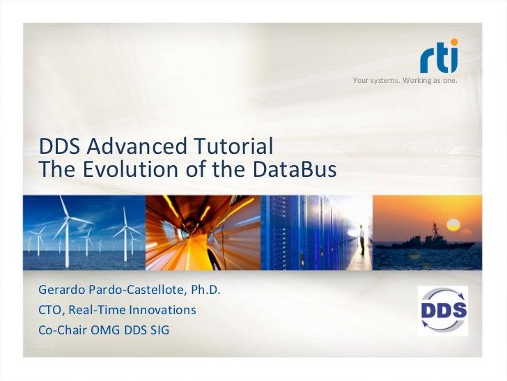 OMG Data Distribution Service (DDS) Advanced Tutorial