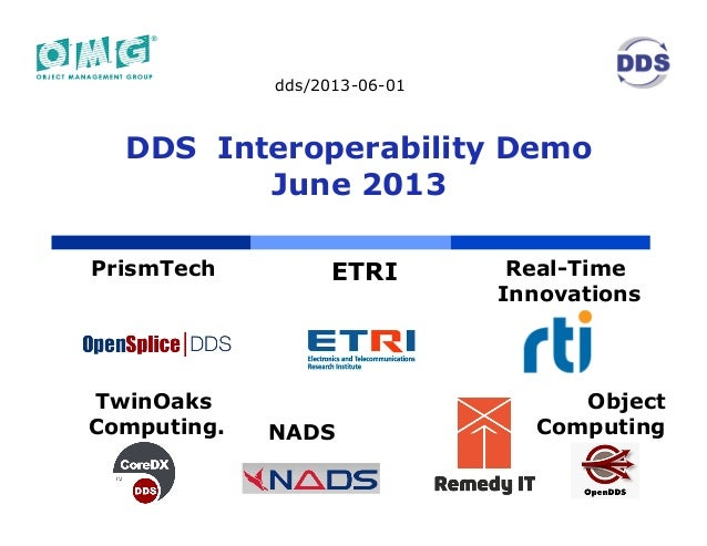 DDS Interoperability Demo June 2013 (Berlin, Germany)