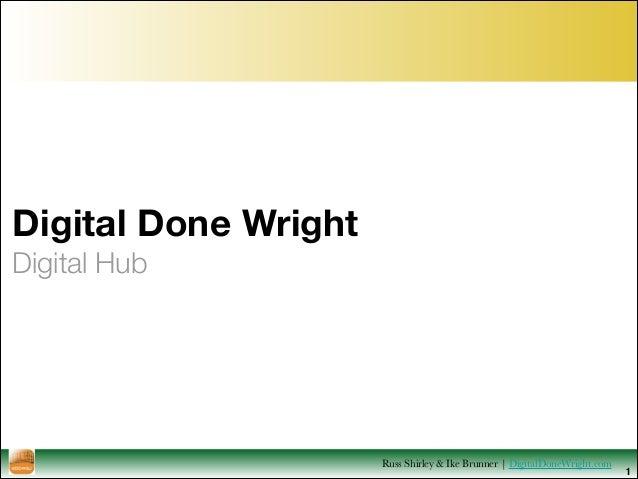 Digital Done Wright Digital Hub 1 Russ Shirley & Ike Brunner   DigitalDoneWright.com