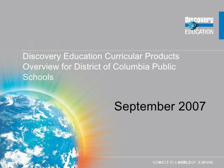 De Presentation For DC   September 2007 (With Pricing)