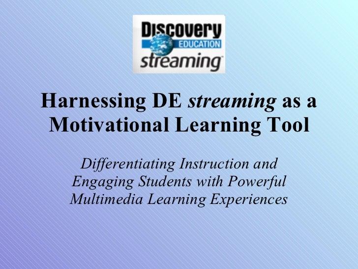 Harnessing DE Streaming Builders