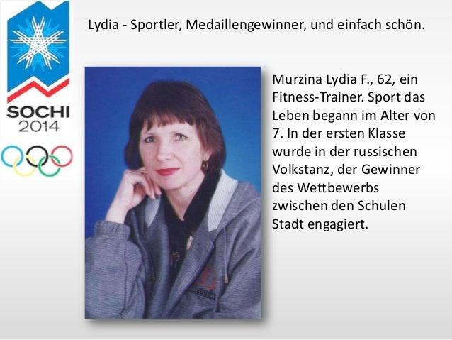 Lydia - Sportler, Medaillengewinner, und einfach schön.  Murzina Lydia F., 62, ein Fitness-Trainer. Sport das Leben begann...