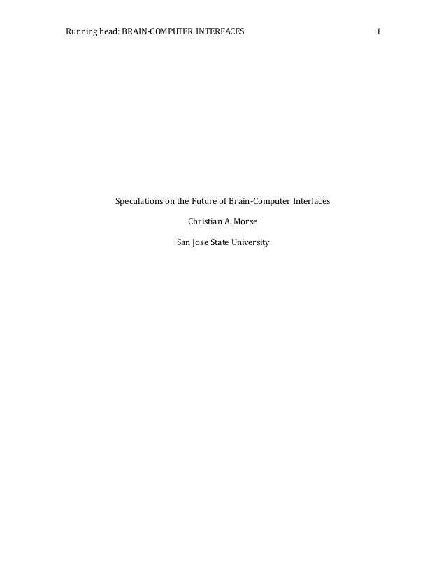 Brain computer interface research paper