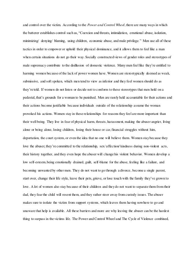 Emotional Abuse Essay