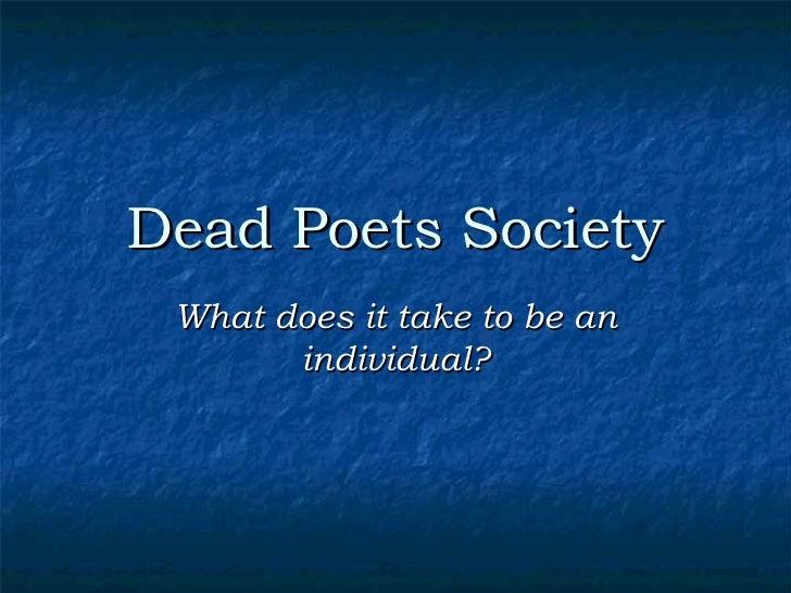 Essay on dead poets society