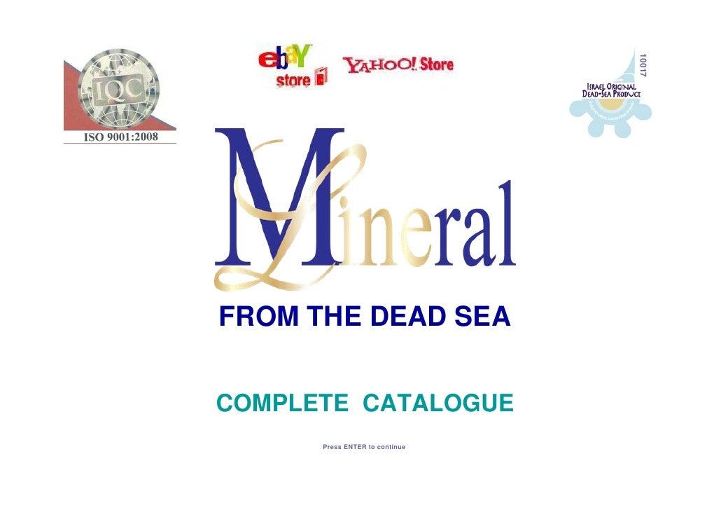 Dead sea cosmetics catalogue