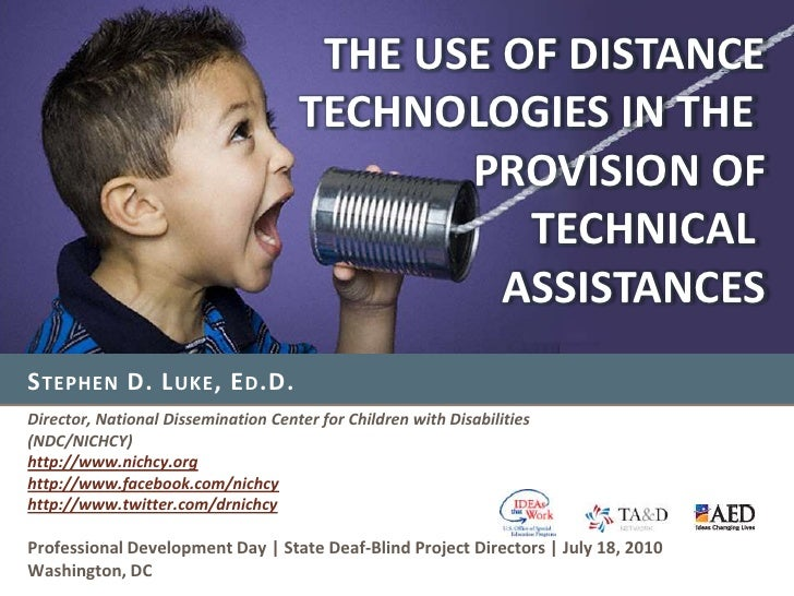The Use of Distance Technologies in the Provision of Technical Assistance