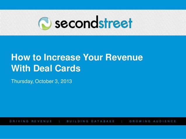 How to Increase Your Revenue with Deal Cards