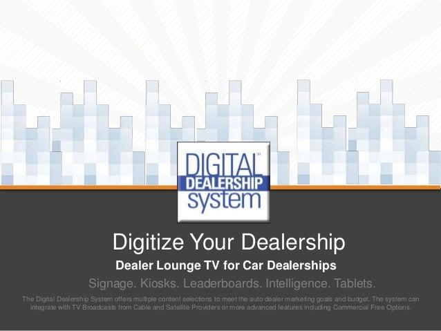 Dealer Lounge TV Options for Car Dealerships