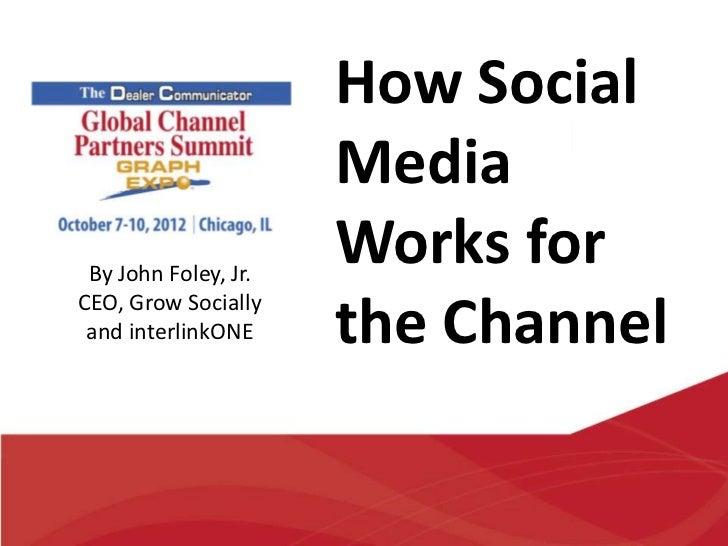 How Social                      Media By John Foley, Jr.                      Works forCEO, Grow Socially and interlinkONE...