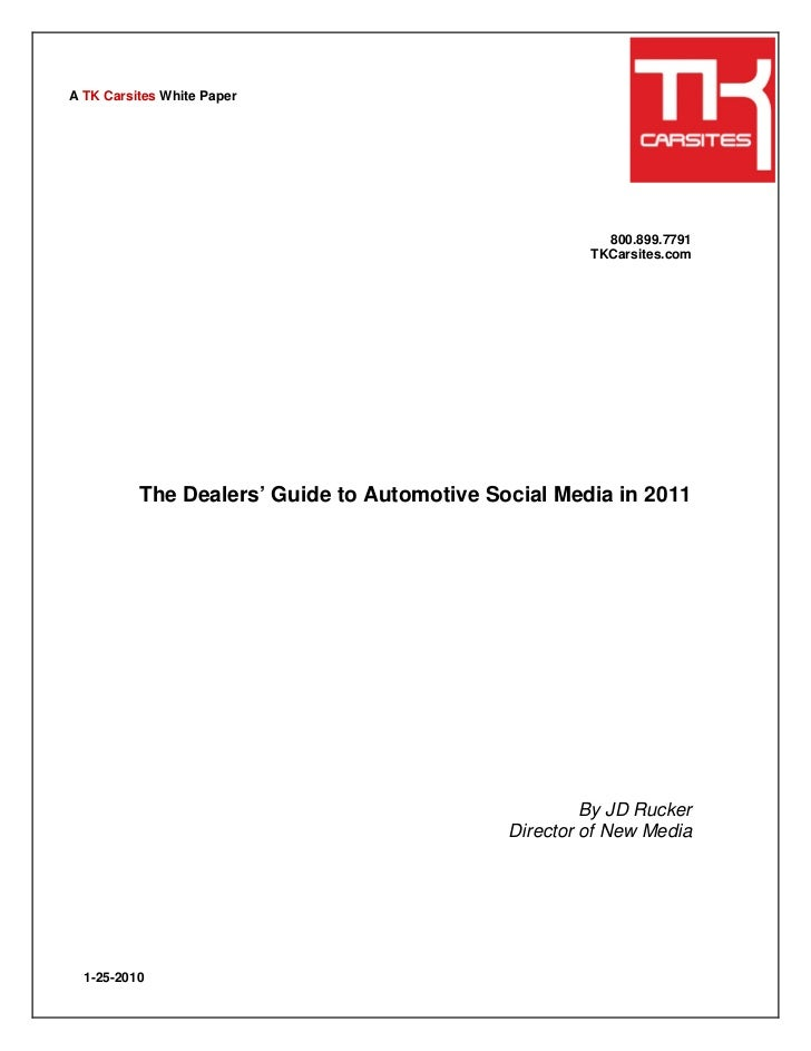 TK Carsites: Dealers Guide to Automotive Social Media