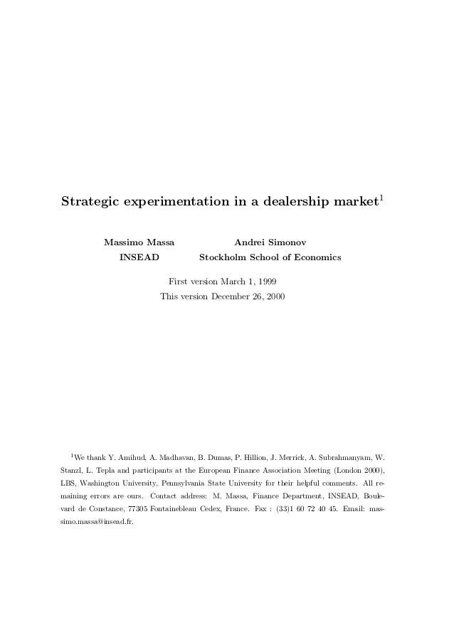 Dealership market