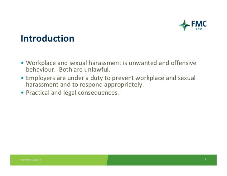an introduction to the issue of sexual harassment in the workplace Analysis of sexual harassment,  everyone began discussing this issue and emotions ran high  more and more men are being harassed in the workplace,.
