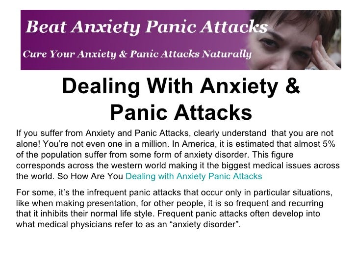 Dealing With Anxiety & Panic Attacks If you suffer from Anxiety and Panic Attacks, clearly understand  that you are not al...