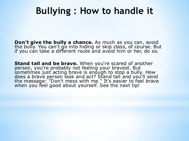 5 Ways to Handle a Bully