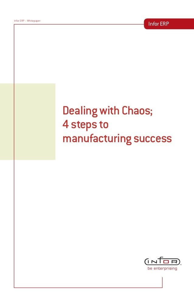 Dealing with chaos - 4 steps to manufacturing success, white paper, ERP