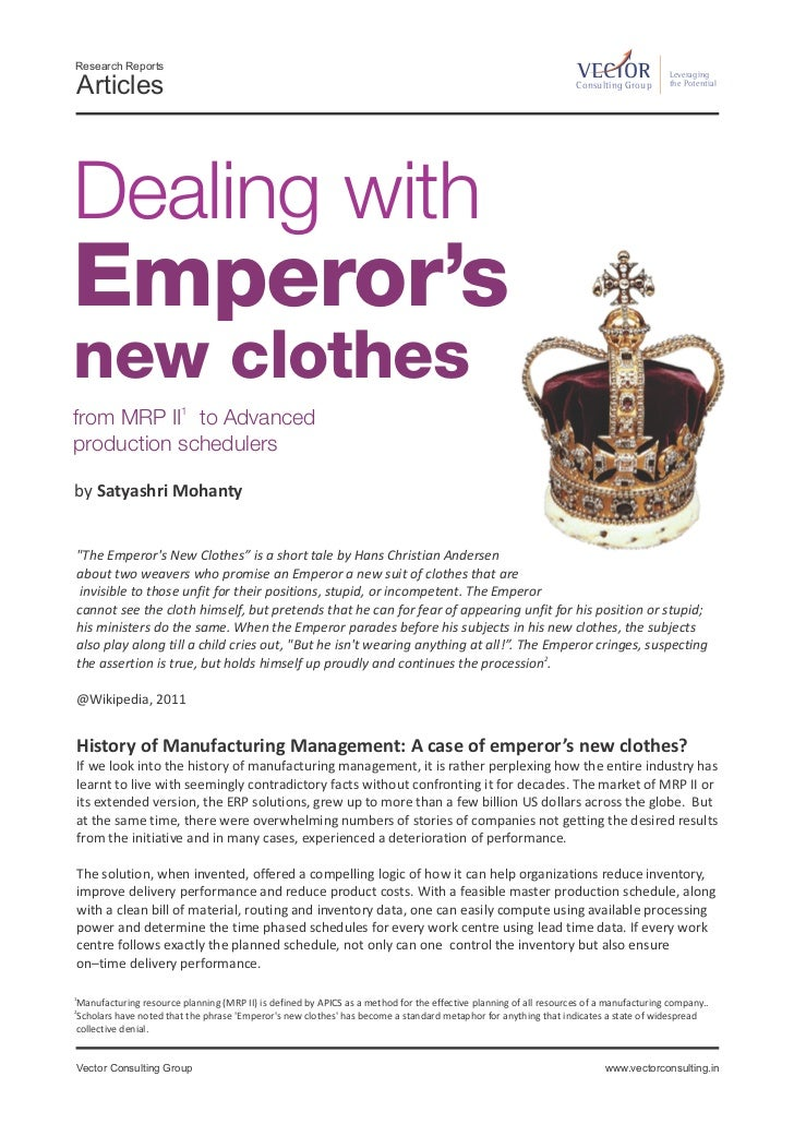 Dealing with Emperor's new clothes